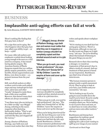 Implausible anti-aging efforts can fail at work