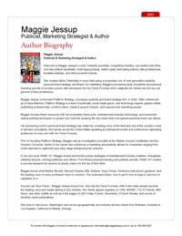 Maggie Jessup Bio