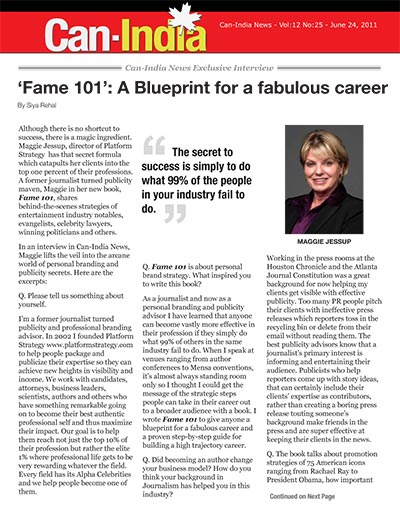 Fame 101: A Blueprint for a fabulous career