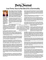 Law Firms: How to Not Become a Commodity