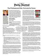 The Professional Elite: Formula for Fame