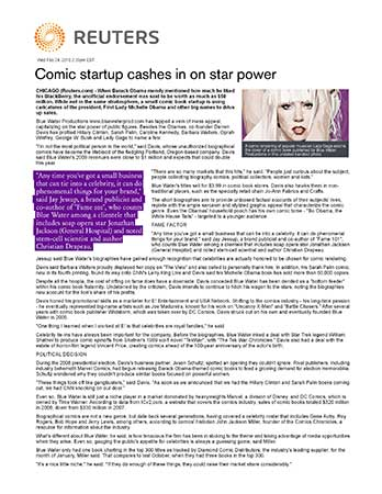 Comic Startup Cashes in on Star Power
