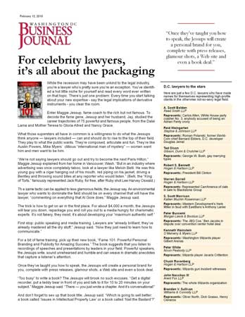 For Celebrity Lawyers, It's All About the Packaging